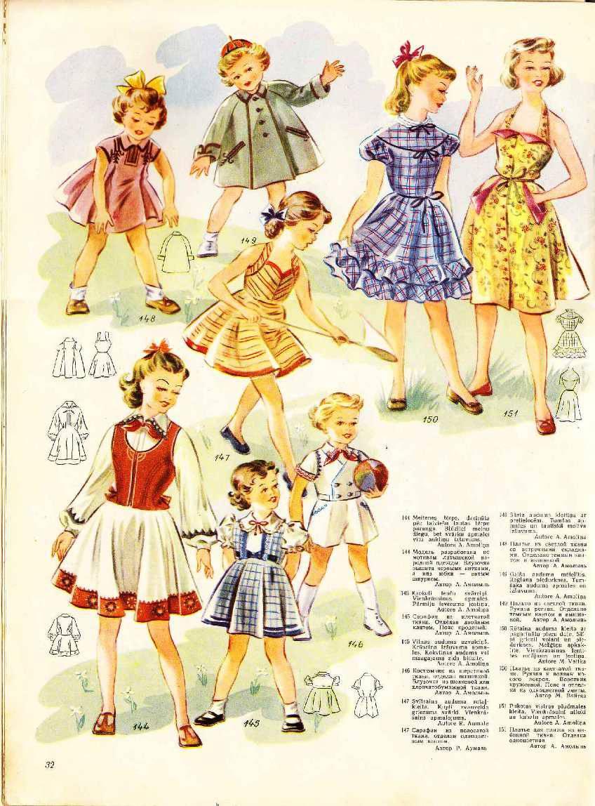 Платья 40-х годов детские