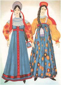 народный костюм из русских платков.