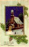 Дореволюционная рождественская открытка - Поздравляю съ Праздникомъ Рождества Христова