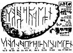 Надпись на камне с Валаама